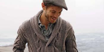 Cardiganul cu guler sal, new entry in garderoba masculina