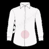 camasa pe comanda - nasturi ascunsi (hidden buttons placket shirt)